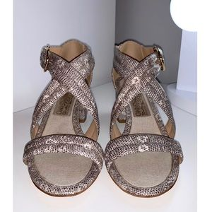Salvatore Ferragamo Lizard Embossed Sandals